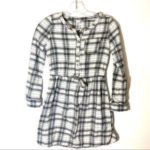 Carter's Girls Grey Plaid Shirt Dress Size 10-12